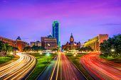 Dallas, Texas, USA cityscape. poster