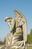 beautiful statue in english cemetery