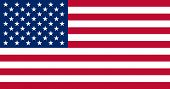 picture of usa flag  - Flat flag of the United States of America - JPG