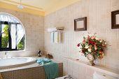 Modern luxury bathroom in a new house