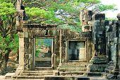 Ein Tempel in der zentralen Angkor Thom, Siem Reap, Kambodscha