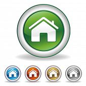 vector houses icon set