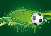 soccer design element,green background