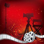 vector background movie theme illustration