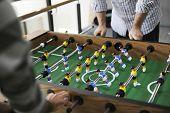 People Playing Enjoying Foosball Table Soccer Game Recreation Leisure poster