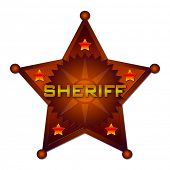image of criminology  - Sheriff abstract badge - JPG