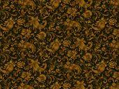 Retro stylized flowers and flagella wallpaper