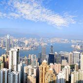 HONG KONG skyline view from the Peak on Hong Kong Island