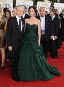 LOS ANGELES - JAN 16:  Michael Douglas & Catherine Zeta-Jones arrives to the 68th Annual Golden Globe Awards  on January 16, 2011 in Beverly Hills, CA
