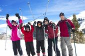 foto of family ski vacation  - Family on a Fun Ski Vacation - JPG