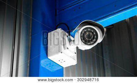 poster of Cctv Surveillance Security Camera Video Equipment Concept - Cctv Surveillance Security Camera Inside
