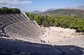 picture of epidavros  - Ancient theatre in Sanctuary of Asklepios at Epidaurus - JPG