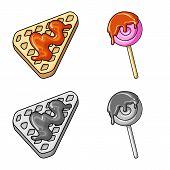 Vector Illustration Of Confectionery And Culinary Icon. Set Of Confectionery And Product Vector Icon poster