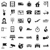 Navigation Equipment Icons Set. Simple Set Of 36 Navigation Equipment Icons For Web Isolated On Whit poster