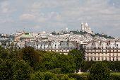 Sacre Coeur Of Montmartre Paris Viewed From Afar