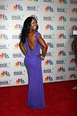 LOS ANGELES - FEB 17:  Carmelita Jeter arrives at the 43rd NAACP Image Awards at the Shrine Auditori