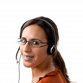 Call Center Agent Looking Back