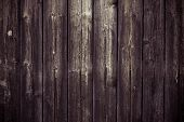 Dark Brown Wooden Plank Surface. Wood Texture Background. Oak Table, Shabby Floor. Vintage Pattern F poster