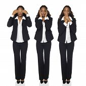 Businesswoman - See No Evil, Hear No Evil, Speak No Evil