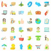 Complete Set Icons Set. Cartoon Set Of 36 Complete Set Icons For Web Isolated On White Background poster