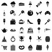 Confectionery Factory Icons Set. Simple Set Of 36 Confectionery Factory Icons For Web Isolated On Wh poster