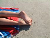 image of jekyll  - Relaxing afternoon in the sun on Jekyll Island beach - JPG