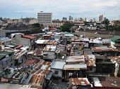 image of shacks  - Squatter Shacks and Houses in a Slum Urban Area - JPG
