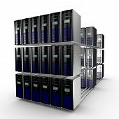 image of supercomputer  - Several interconnected computer working together available through a network - JPG