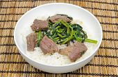 Vietnamese Beef Stir Fried With Water Spinach