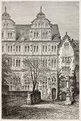 Heidelberger Schloss: Fredrick iv Palast. erstellt von Stroobant, veröffentlicht am le Tour du Monde, Paris, 1