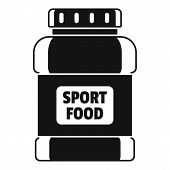 Sport Food Jar Icon. Simple Illustration Of Sport Food Jar Vector Icon For Web Design Isolated On Wh poster