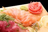 Sashimi Syake On A Board