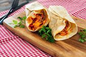 bacon chicken wrap - meat of chicken buttle in rest of bacon fume cooked poster