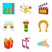 Providing Icons Set. Cartoon Set Of 9 Providing Icons For Web Isolated On White Background poster