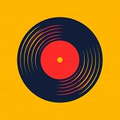 Vinyl Record Music Vector With Vinyl Record Word poster