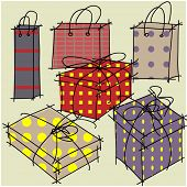 art holiday gift boxes vector