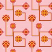 Retro Flower Wallpaper