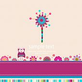 colorful whimsy flower tree background
