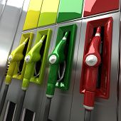 Colorful Gas Pumps