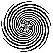 stock photo of dizziness  - Black and white descending spiral design pattern - JPG