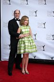 LOS ANGELES - FEB 19:  Matthew Weiner; Kiernan Shipka arrive at the 2012 Writers Guild Awards at the
