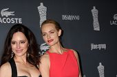 LOS ANGELES - FEB 21:  Madeleine Stowe, Amber Valletta arrive at the 14th Annual Costume Designers G