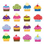 Colorful Sweet Cupcakes