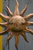 Copper Sun Wall Ornament