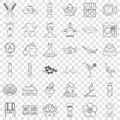 Beauty Salon Icons Set. Outline Style Of 36 Beauty Salon Vector Icons For Web For Any Design poster