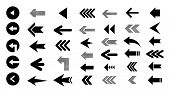 Arrow Left  Icons Isolated On White Background, Set Of Black Vector Arrows. Arrow Icon. Arrow Vector poster