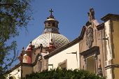 pic of assis  - Dome Santa Clara Church and Convent Templo de Santa Clara de Assis Queretaro Mexico