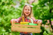 Gardening Classes. Inspect Garden Daily Spot Insect Trouble Early. Ecology Education. Little Girl Pl poster