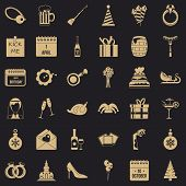 October Icons Set. Simple Style Of 36 October Vector Icons For Web For Any Design poster