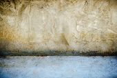 Old Grunge Texture, Grey Concrete Wall, Texture Damaged Plaster Concrete Background Wall, Grunge Wal poster